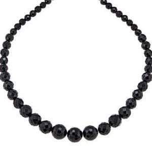 Torrid Black Faced Gradated Bead Necklace
